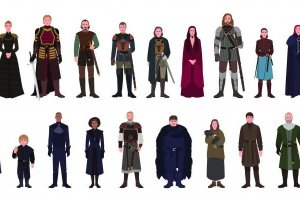 Drawing of the cast from Game of Thrones