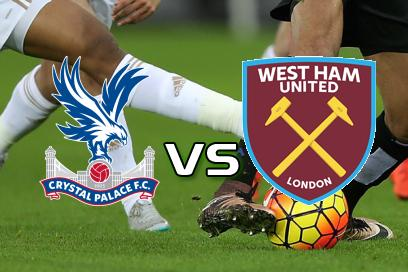 Crystal Palace - West Ham United:  Flest kort Crystal Palace
