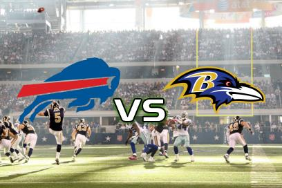 Buffalo Bills - Baltimore Ravens:  Ravens vinder med 1-12 point